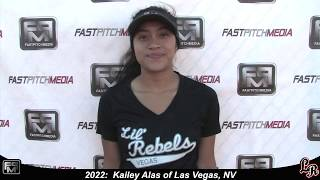 2022 Kailey L. Alas Catcher Softball Skills Video - Lil Rebels