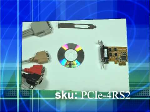 4port PCI-Express RS 232 Serial Card