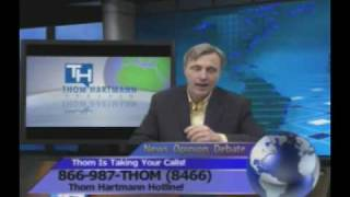 Thom tells a caller to go to hell
