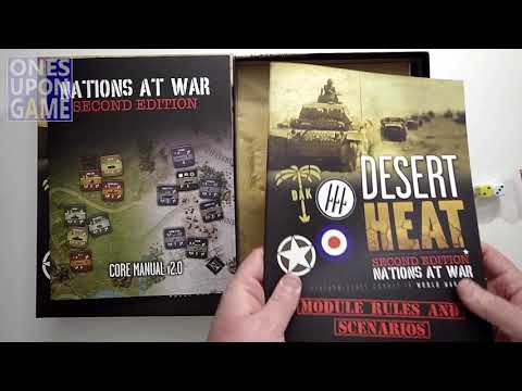 Desert Heat - Nations at War 2.0 Unboxing by Ones Upon a Game