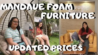 PRICES OF SOFA, ACCENT CHAIRS, TABLES & BOOK SHELVES AT MANDAUE FOAM | UPDATED PRICE 2019 (VLOG #38)