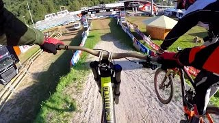 Claudio, Peaty and Rob Warner Ride the Val di Sol DH World Championships Course