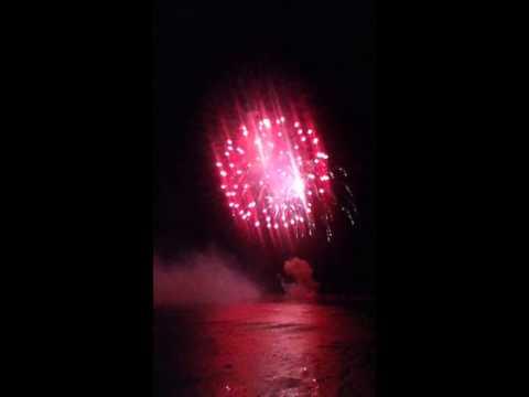 grand pier fire works 2012