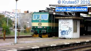 preview picture of video 'ČD 162.019 - R976, Praha-Holešovice, 7.10.2010'