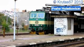 preview picture of video 'ČD 162.019 - R976, Praha-Holešovice, 7.10.2010'
