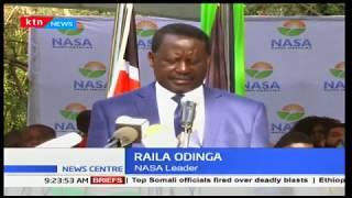 NASA leader, Raila Odinga vows to fight on the controversial poll that handed Uhuru Kenyatta win