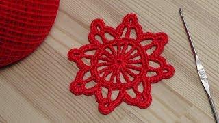 Вязание снежинки - крючок для новичков - crochet for beginners