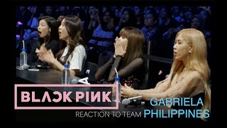 BLACKPINK REACTION to team GABRIELA PHILIPPINES at Samsung Live in Indonesia