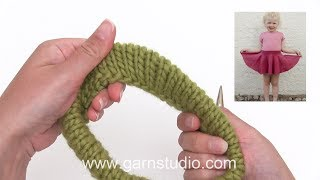 How To Knit A Folded Edge In A Skirt