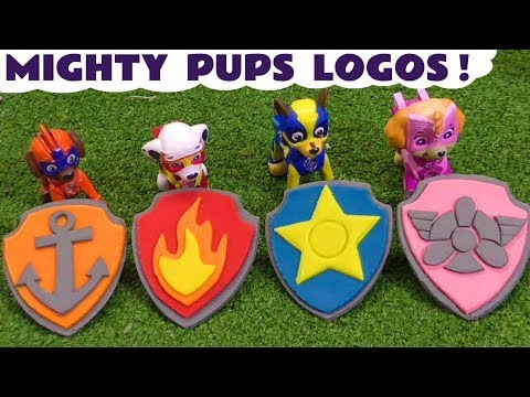 Paw Patrol Mighty Pups Earn Play Doh Badges Opening them when pups Rescue using Superhero Powers