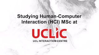 Human-Computer Interaction Master's Degree at UCL