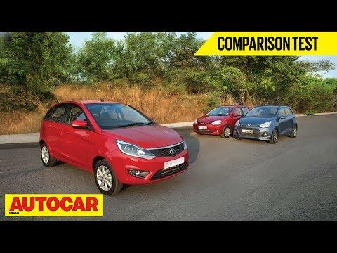 Tata Bolt VS Hyundai Grand i10 VS Toyota Etios Liva | Comparison Test | Autocar India - Toyota Videos