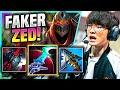 FAKER TRIES ZED AGAIN! - T1 Faker Plays Zed Mid vs Pantheon! | Preseason 11
