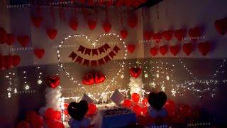 Romantic Room Decoration Ideas, Birthday Surprise Decoration For Husband, Anniversary Surprise Home