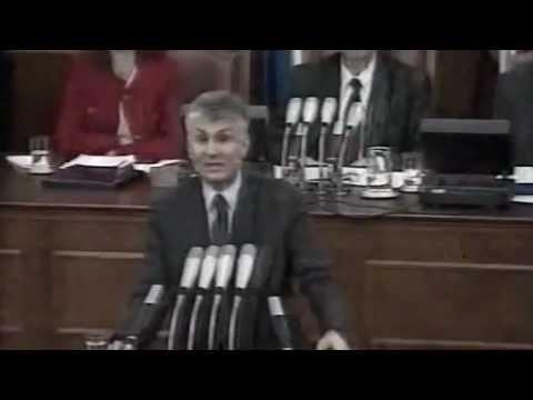 Govor Zorana Đinđića nakon izlaganja ekspozea pred poslanicima Skupštine Republike Srbije