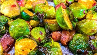 Oven Roasted Brussel Sprouts with Bacon  How to Roast Brussel Sprouts