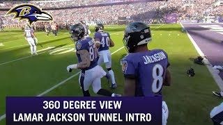 Lamar Jackson Tunnel Entrance 360 Degree View