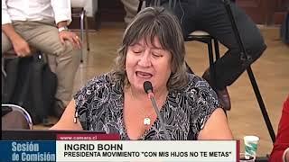 Nuestra vocera, Ingrid Bohn, presenta en la Comisión de Educación Congreso de Chile datos e informac