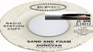 There Is A Mountain/Sand And Foam Donovan 1967 (Facciate2)