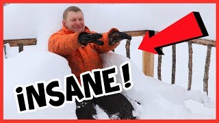 SMASHED AN 81 YEAR OLD SNOW FALL RECORD!