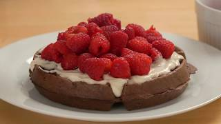 Rasberries & Crème Chocolate Belgian Waffles