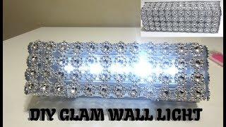 Diy Glam Wall Sconce Bling Light Home Decor 2019