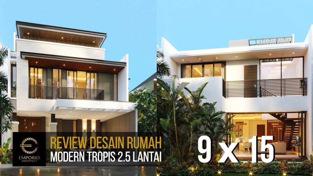 Video 3D Desain Rumah Modern 2.5 Lantai Bapak Fauzan di Bekasi, Jawa Barat