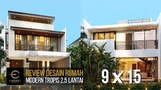 Video Desain Rumah Modern 2.5 Lantai Bapak Fauzan di  Bekasi, Jawa Barat