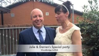 Julie & Darren Renewing wedding Vow's