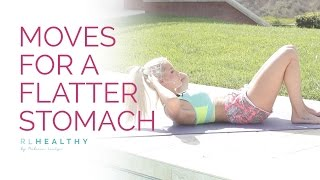 9 Moves for a Flatter Stomach by Rebecca-Louise