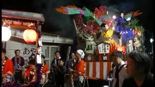 秋田県横手市平鹿町浅舞八幡神社祭典宵宮20180915