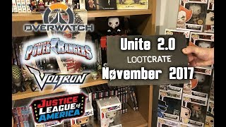Loot Crate Subscription Crate Unite 2.0 Unboxing November 2017! FINALLY A FUNKO POP EXCLUSIVE!