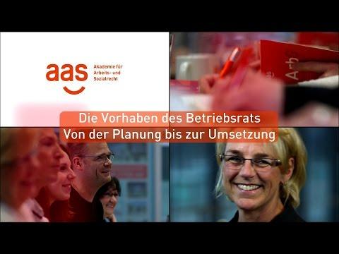 Die Vorhaben des Betriebsrats – Von der Planung bis zur Umsetzung – aas Seminare
