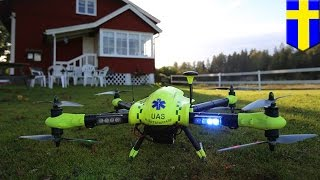 Drone Beats Ambulance In Delivering Defibrillators To People Suffering Heart Attacks   TomoNews