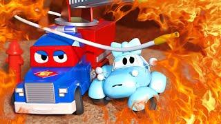 Детские мультики с грузовиками - Супер Пожарная Машина - Трансформер Карл в Автомобильный Город 🚚 ⍟
