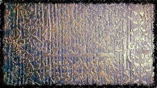 ДЕКОРАТИВНАЯ  ШТУКАТУРКА  -  ЛОФТ  (Старинный Узор) Своими  Руками