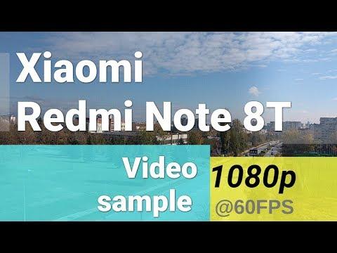 Xiaomi Redmi Note 8T 1080p@60fps video sample