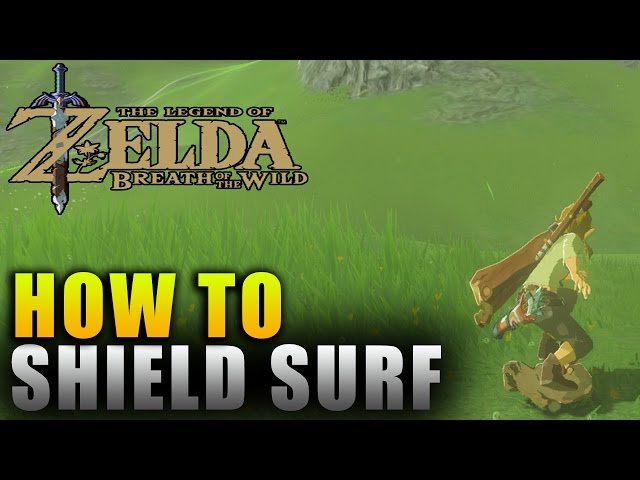 """The Legend of Zelda"" Breath of the Wild How To Shield Surf - Breath of the Wild Guide"