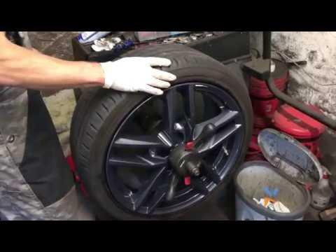 Auto Felge wuchten mit Reifenwuchtmaschine PKW Felge auswuchten mit Auswuchtmaschine Anleitung