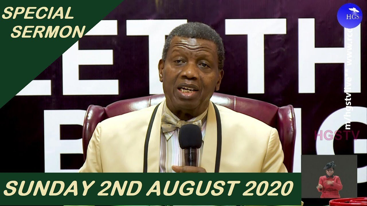 RCCG Sunday Service 2 August 2020 with Pastor Adeboye