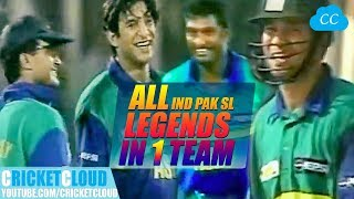 India PAK SL Legends in One Team | Asia vs Rest of World | Extraordinary Thriller Match !!
