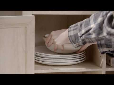 Video for White Oak and Black Accent Cabinet