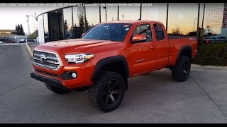 2016 Toyota Tacoma Access Cab TRD Off Road with Lift kit Review and Walk around