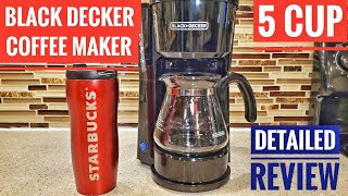 Black & Decker 5 Cup Coffee Maker Station 4 in 1 DETAILED REVIEW & How To