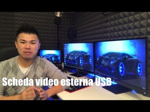 Scheda video esterna USB: come collegare 1 2 3 monitor PC Desktop fisso / Notebook portatile laptop
