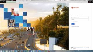 How to log in to Office 365 via the web portal
