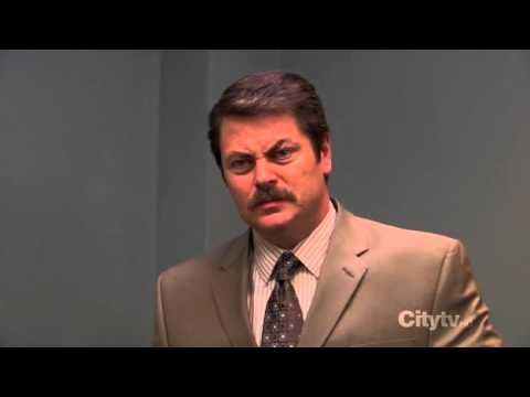 ron swanson gun on desk