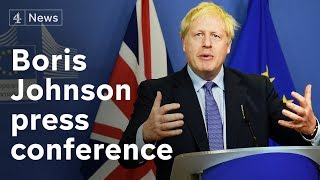 Boris Johnson Press Conference as Brexit deal agreed