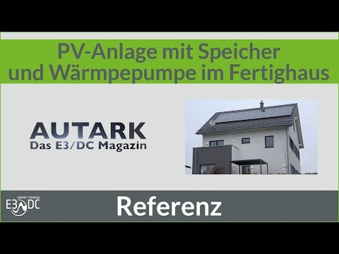 PV-Anlage mit Speicher und Wärmepumpe im Fertighaus