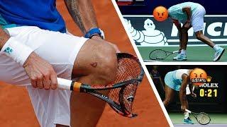 Angry Tennis Players Smashing Rackets!!!